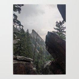 Flat Iron 1 During Rainstorm Poster