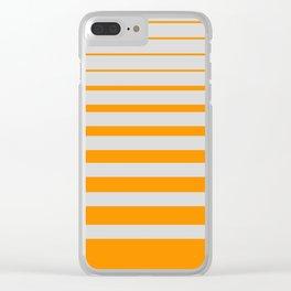 Orange digital horizons Clear iPhone Case