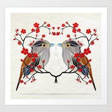 look at me my bird  Art Print