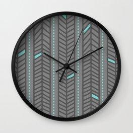 Birdsong Feather Stripe Wall Clock
