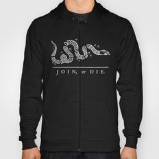 Join or Die in Black and White Hoody