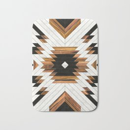 Urban Tribal Pattern 5 - Aztec - Concrete and Wood Bath Mat