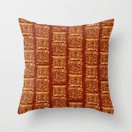Lex Bricks Red Throw Pillow