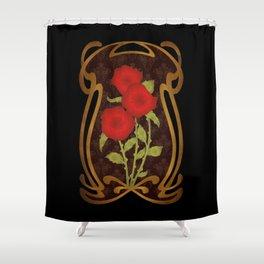 Art Nouveau Rose Shower Curtain