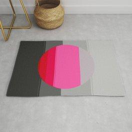 Modern Circle Pink Gray 2 Rug