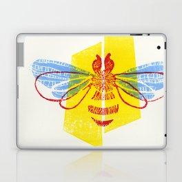 Be Safe - Save Bees linocut Laptop & iPad Skin