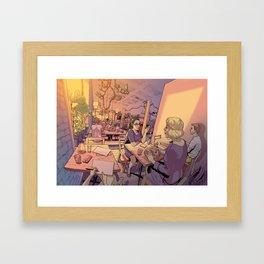 Sun Moth Framed Art Print