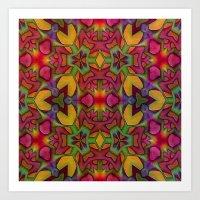 escher Art Prints featuring Escher Tile by RingWaveArt