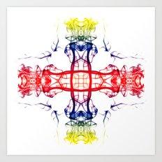Smoke Cross 4 Art Print