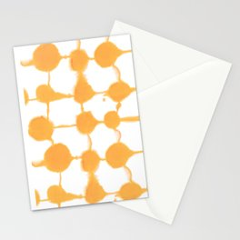 Connect Dots Yellow Stationery Cards