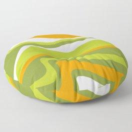 Pesto Orange and green Floor Pillow
