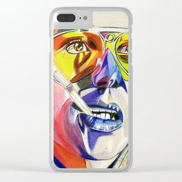 Hunter S Thompson - Fear and Loathing Clear iPhone Case