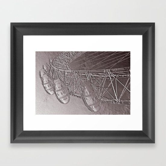 Embossed London Eye Framed Art Print