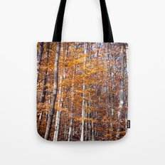 Golden brown leaves Tote Bag