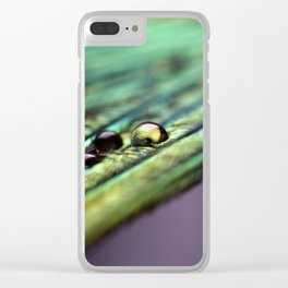 Peacock feather Clear iPhone Case