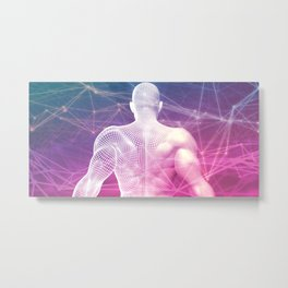 Internet Concept with Exploring Online as Background Metal Print