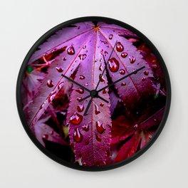 Lingering Rain Wall Clock