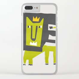 King Lion Clear iPhone Case