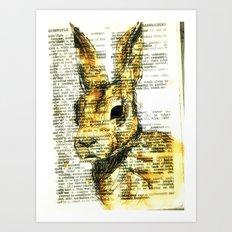 rabbit n. Art Print