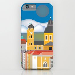 Munich, Germany - Skyline Illustration by Loose Petals iPhone Case
