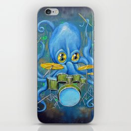 Octopus on Drums iPhone Skin