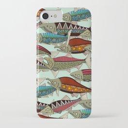 Alaskan salmon mint iPhone Case
