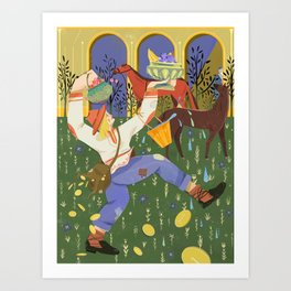 Pushkin Fairy Tales 02 -The Tale of the Priest and His Workman Balda Art Print