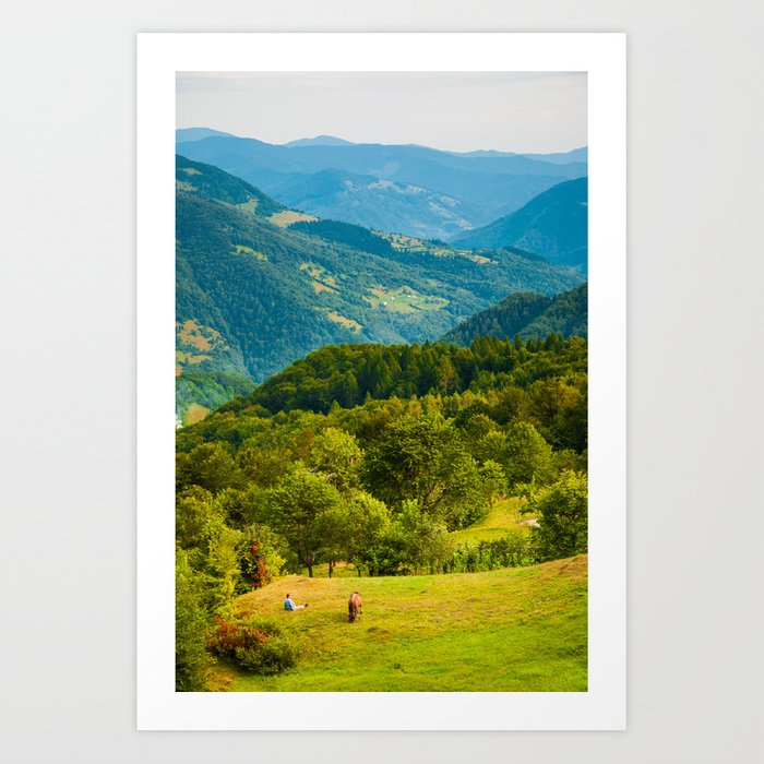 mountain shepherd Art Print