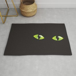 Green Cat Eyes  Rug