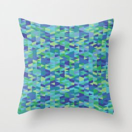 Pointy-Oceania colorway Throw Pillow