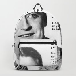 F Scott Fitzgerald quotes - For what it's worth Backpack