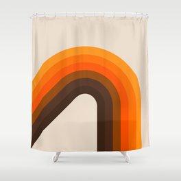 Golden Bending Bow Shower Curtain