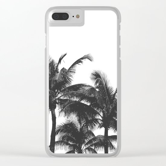 Simple palm trees Clear iPhone Case