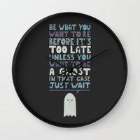 motivational Wall Clocks featuring Motivational Speaker by Teo Zirinis