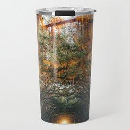 Tree Lined Road Travel Mug