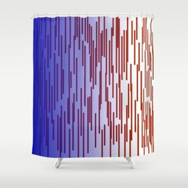 design lines blue with pink Shower Curtain