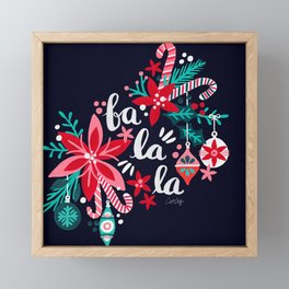 Fa La La Bouquet – Navy Framed Mini Art Print