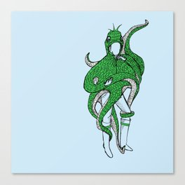 timid monster Canvas Print