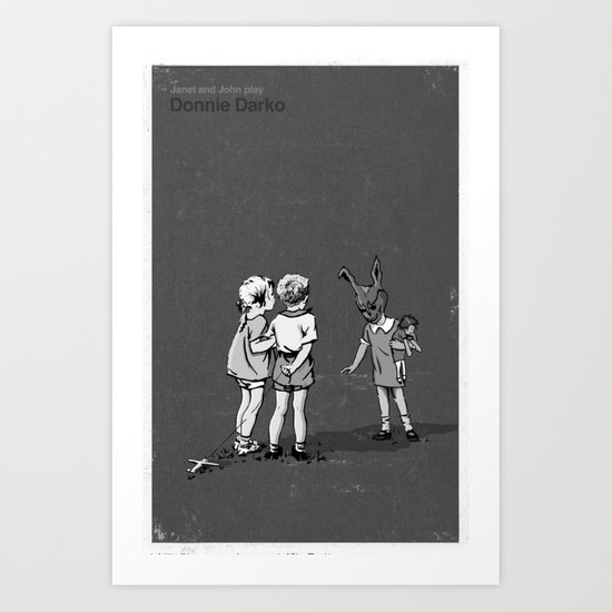 Janet And John Play Donnie Darko Art Print