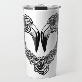 Flamingo Heart Travel Mug