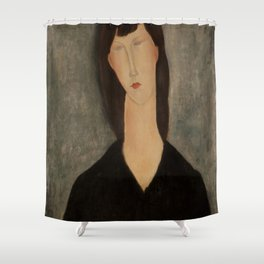"""Amedeo Modigliani """"Bust of a Woman"""" Shower Curtain"""