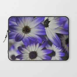 Blue & White Daisy Flowers #1 #floral #decor #art #society6 Laptop Sleeve