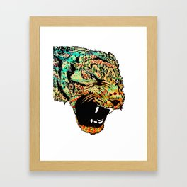 Sketch Patterned Tiger Head Framed Art Print