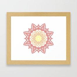 Warm Mandala Framed Art Print