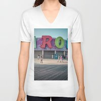 carousel V-neck T-shirts featuring Carousel  by MikeMartelli