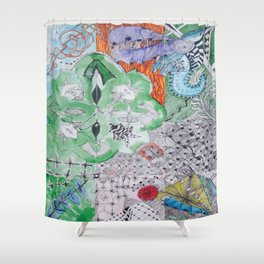 Hummingbird Ensemble Shower Curtain