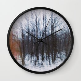 Altered Drive-By Forest Wall Clock