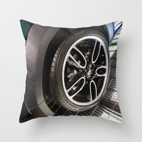 bmw Throw Pillows featuring BMW Mini Paceman Wheel by Mauricio Santana