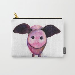 Nosey Pig ' Pigs CAN Fly ' by Shirley MacArthur Carry-All Pouch