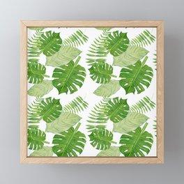Tropical Leaf Mix Framed Mini Art Print